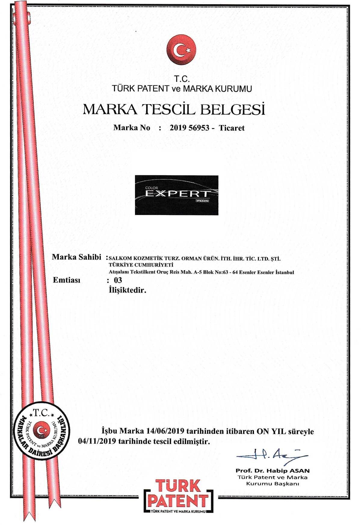 EXPERT PLUS MARKA TESCİL