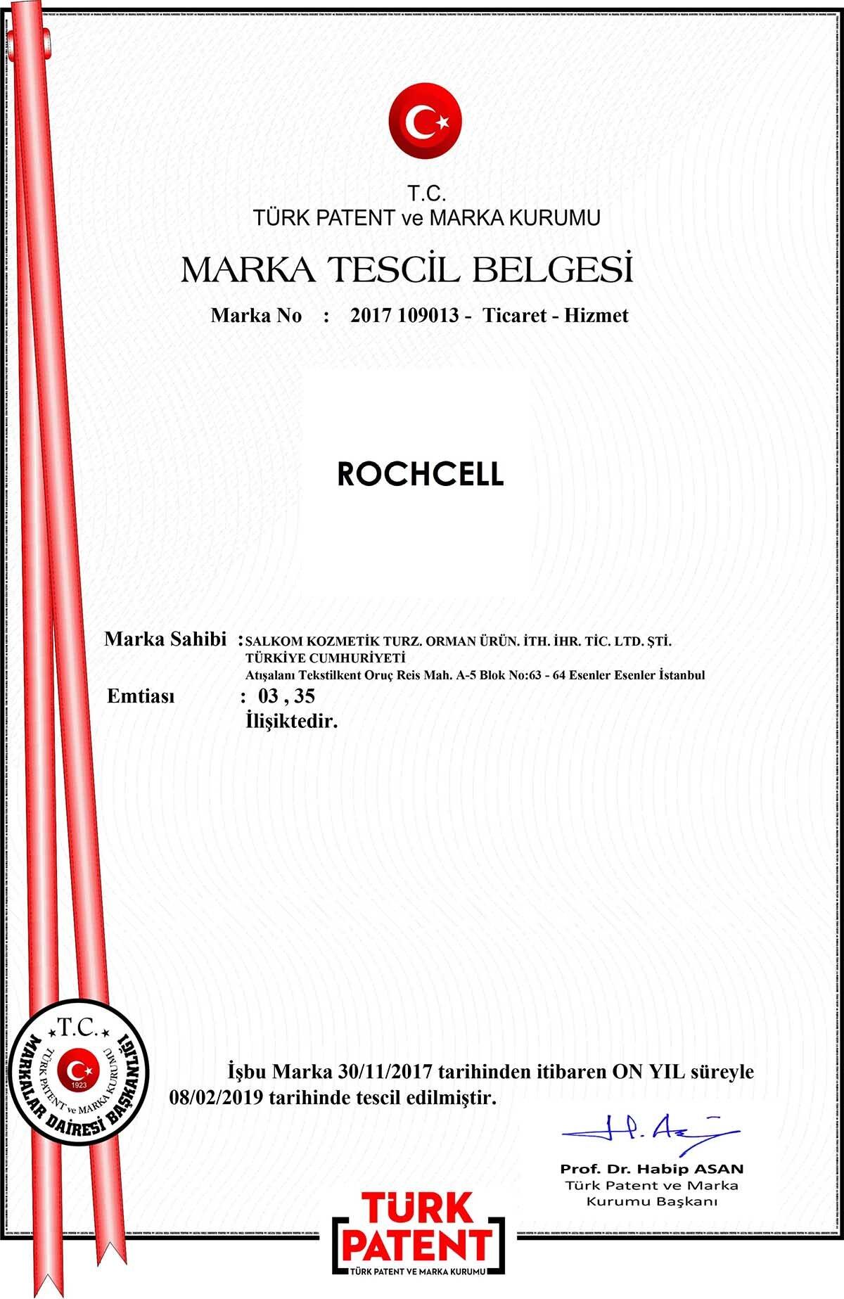 Rochcell Marka Tescil