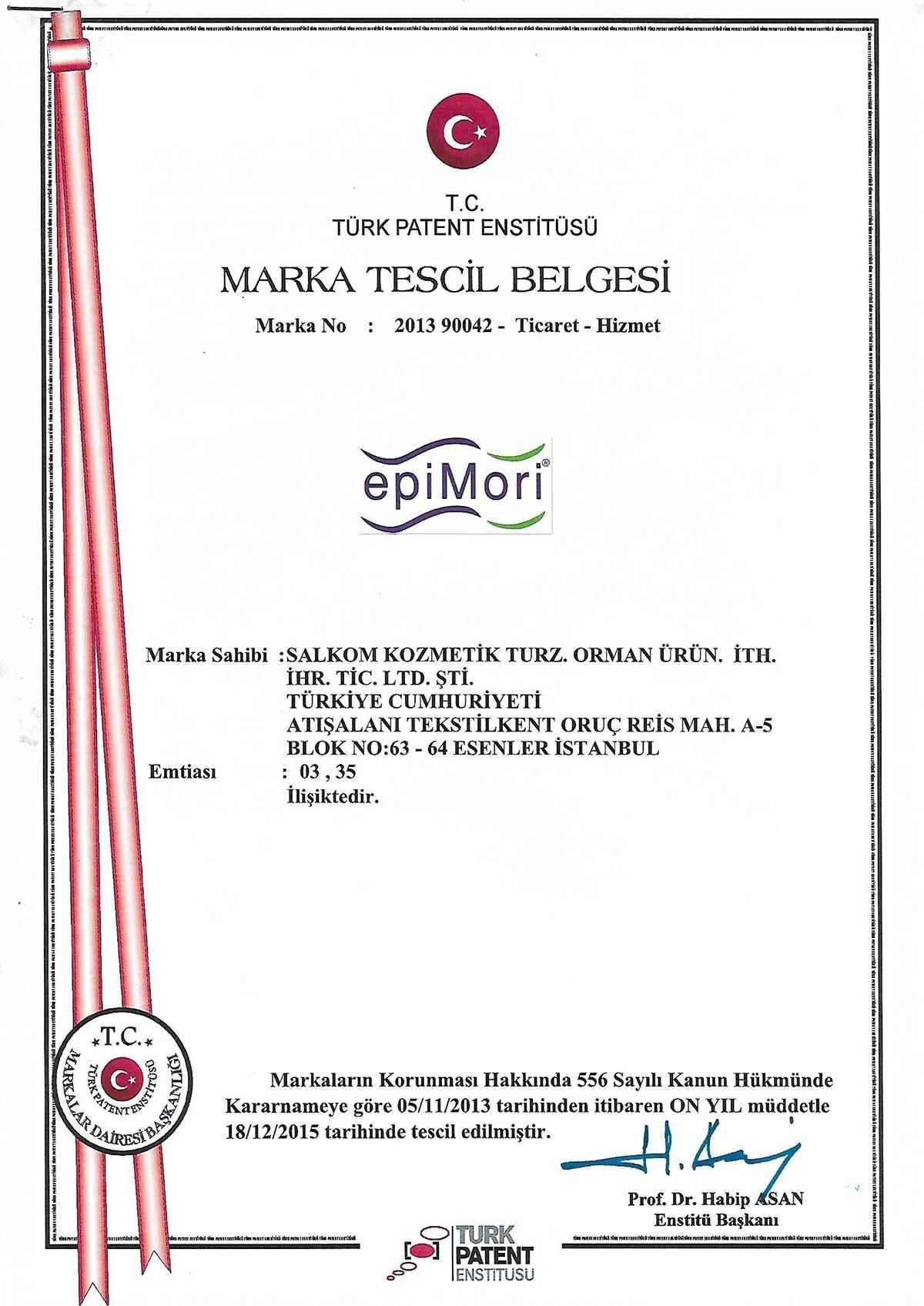 epiMori Marka Tescili